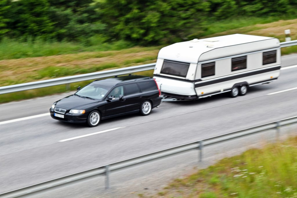 Volvo med husvagn